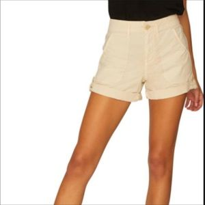 Sanctuary Beige 100% Linen shorts-Size 27